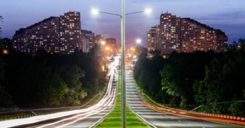 LED street lighting image