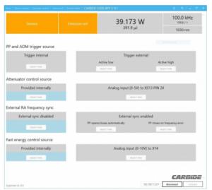 CARBIDE CB3 fast energy control user app screen shot