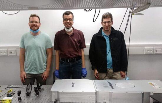laser installation at Technion photo
