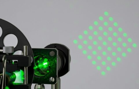 Laser beam splitter application image