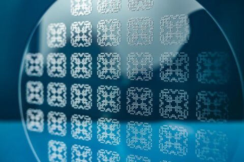 Micro-machined glass photo