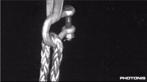 Rope at 70m Depth under Water photo