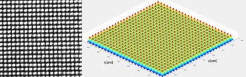 Image for split laser beam