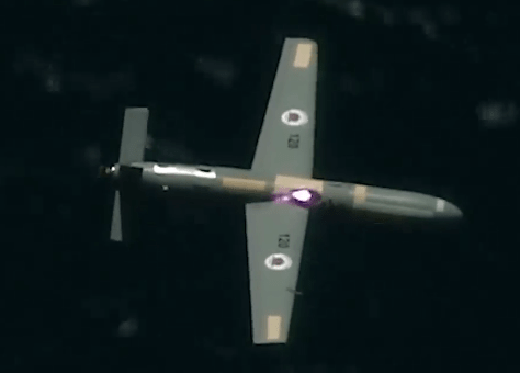 Photo of firing on drone with laser