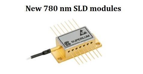 Photo of new 780-nm SLD module
